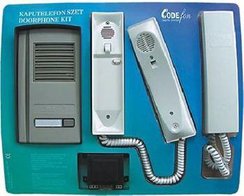 CODEfon kaputelefon 1 lakásos készlet 2 beltéri lakáskészülékkel