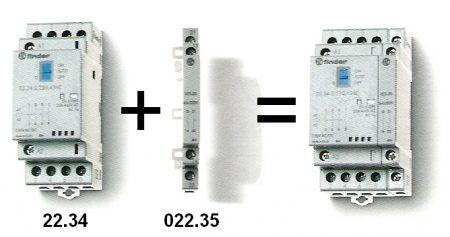 Segédérintkező installációs mágneskapcsolóhoz 1NO+1NC