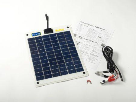 10W-os Flexibilis napelem 12V-os akkumulátorok töltéséhez, FLEXI-PV gyártmányú