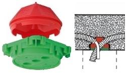 KAISER 1249-44 Mennyezeti doboz, 60mm nyílással