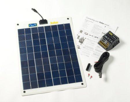 20W-os Flexibilis napelem 12V-os, töltésvezérlővel, FLEXI-PV gyártmányú