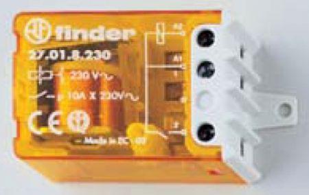 Kompakt felépítésű impulzus-relé Finder 21.01-es típus