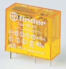 Miniatűr printrelé 10 A 24 V DC 5mm