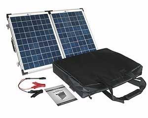 40 W-os Hordozható napelemes készlet lakókocsikhoz, kempingezéshez, PV-Logic gyártmányú