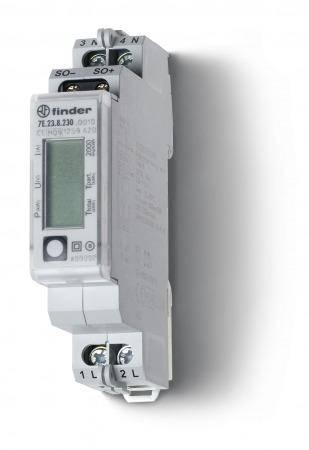 Elektronikus fogyasztásmérő 1 fázis 32A LCD kijelző