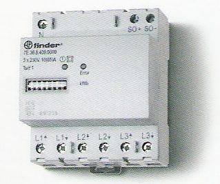 Elektronikus fogyasztásmérő 3 fázis 3x65A mechanikus számláló