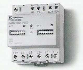Elektronikus fogyasztásmérő 3 fázis 3x65A 2-tarifás mechanikus számláló