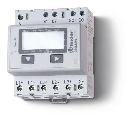 Elektronikus fogyasztásmérő 3 fázis 3x65A LCD kijelző