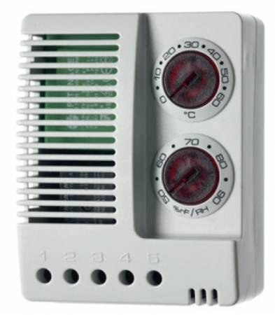 Higrosztát és termosztát szellőztetés be- és/vagy fűtés bekapcsolása, állítható