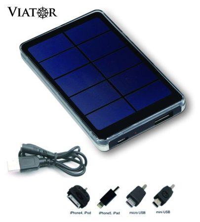 Viator Slim V-2000 Napelemes/USB univerzális töltőkészülék