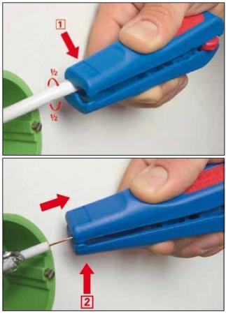 Weicon No.3 - kombinált koax csupaszoló > 4,8 - 7,5 mm külső átmérőig