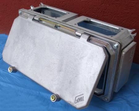 A2-24NY alu sínszekrény - nyitható