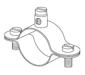 """Földelő csőbilincs / acél (1/4"""" - 2,5"""" / 13 mm - 76 mm-es csőre)"""