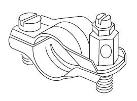 """Földelő csőbilincs / réz (1/8"""" - 2"""" / 8 mm - 63 mm-es csőre)"""