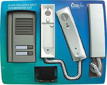 CODEfon kaputelefon 2 lakásos készlet 1-1 beltéri lakáskészülékkel
