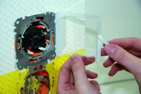 Festékvédő - műanyag felragasztható fedél